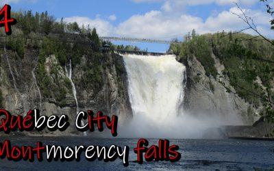 Las Cascadas Montmorency y la ciudad de Québec